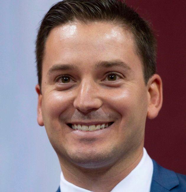 Simon Jolin-Barrette lors de son assermentation comme ministre de l'Immigration, de la Diversité et de...