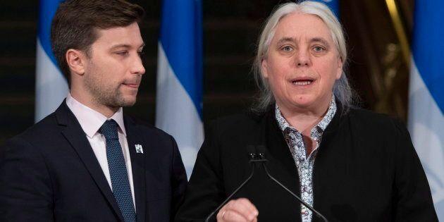 Les porte-paroles de Québec solidaire, Gabriel Nadeau-Dubois et Manon