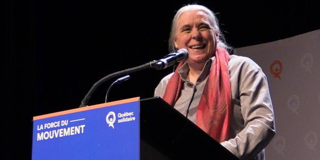 Manon Massé, coporte-parole de Québec solidaire, lors du congrès national du parti tenu du 7 au 9