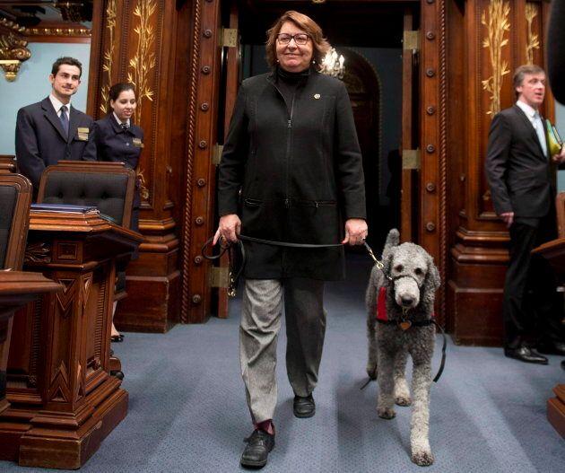 Claire Samson et son chien