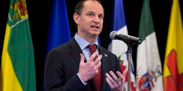 Le ministre des Finances du Québec, Éric
