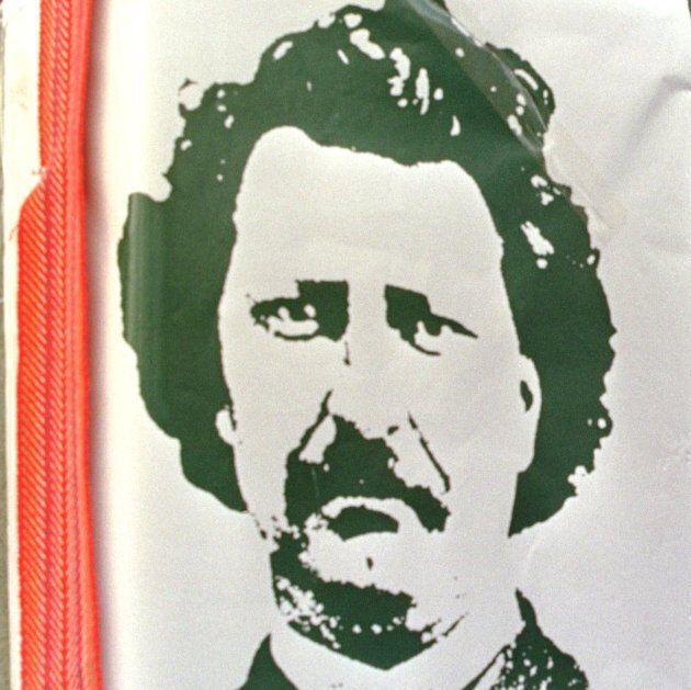 Cérémonie à la mémoire de Louis Riel, à Ottawa. Louis Riel était un leader Métis accusé de trahison par...