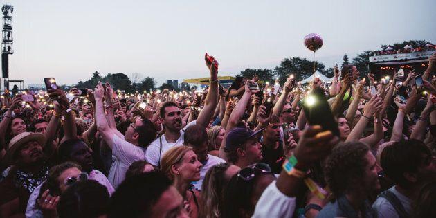 Photo de foule de l'édition 2018 d'Osheaga, au parc Jean-Drapeau de Montréal.