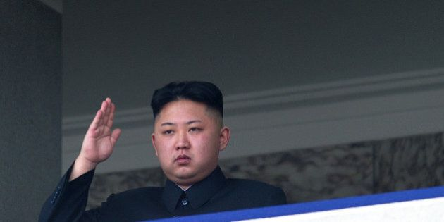 TO GO WITH Oly-2012-PRK,FEATURE(FILES) This file photo taken on April 15, 2012 shows North Korean leader...
