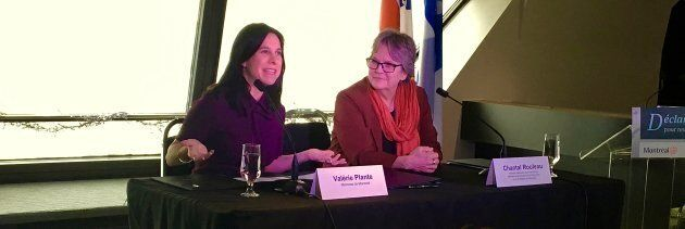 La mairesse de Montréal, Valérie Plante, et la ministre responsable de la Métropole, Chantal Rouleau,...