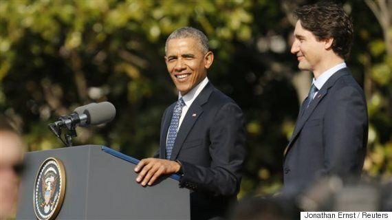 Justin Trudeau et Barack Obama célèbrent l'amitié