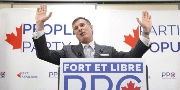 Le nouveau parti de Maxime Bernier ne se mêlera pas d'avortement ou d'identité de genre,
