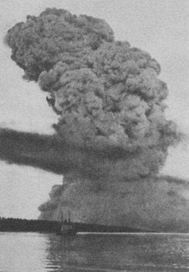 Photo d'archives de l'explosion d'Halifax, 1917