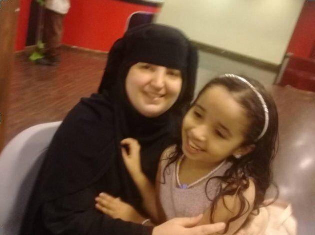 Nathalie Morin et sa fille Sarah, en 2017