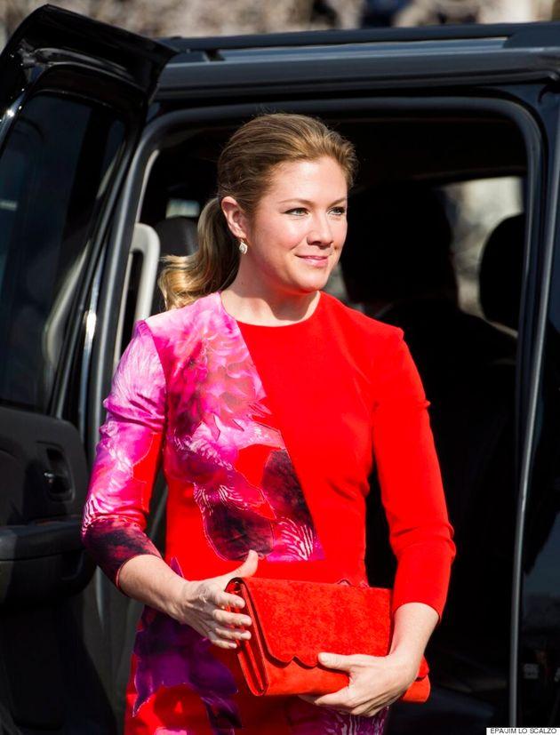Sophie Grégoire-Trudeau est habillée par le créateur québécois Duy pour son arrivée à Washington