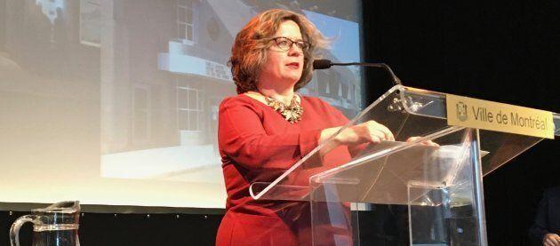Christine Gosselin, responsable de la culture au sein de l'administration de Valérie Plante, à Montréal.