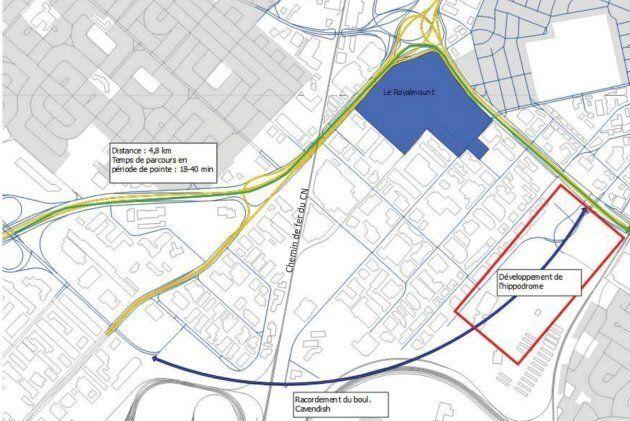 La firme WSP estime que le méga-centre commercial Royalmount aurait un impact faible sur le projet de raccordement du boulevard Cavendish.