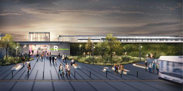 La future station Panama du Réseau express métropolitain