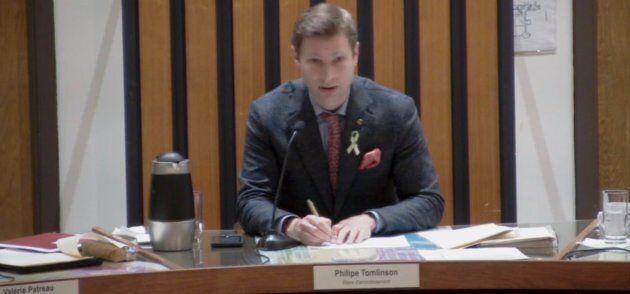 Philippe Tomlinson, maire de l'arrondissement montréalais d'Outremont.