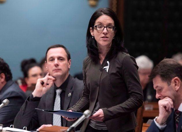 Sonia LeBel, ministre de la Justice, des Relations canadiennes et de la Francophonie canadienne et responsable...
