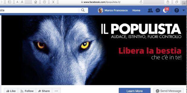 «Libère la bête qui est en toi» est le slogan dans l'en-tête de «Il populista», l'organe central de la...
