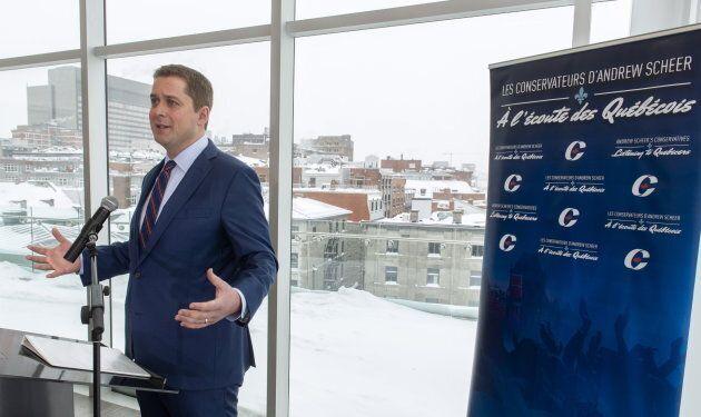 Andrew Scheer tente de gagner des points au Québec à moins de neuf mois des