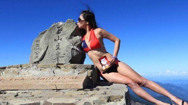 Gigi Wu, 36 ans, lors d'une de ses sorties en