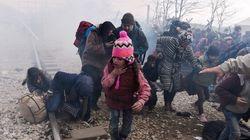 Violence à la frontière entre la Grèce et la Macédoine