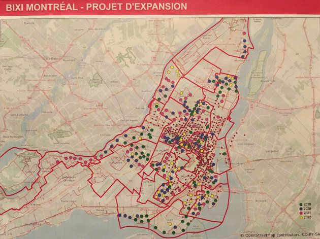 Le service de vélopartage BIXI sera étendu à tous les arrondissements de Montréal d'ici 2021.