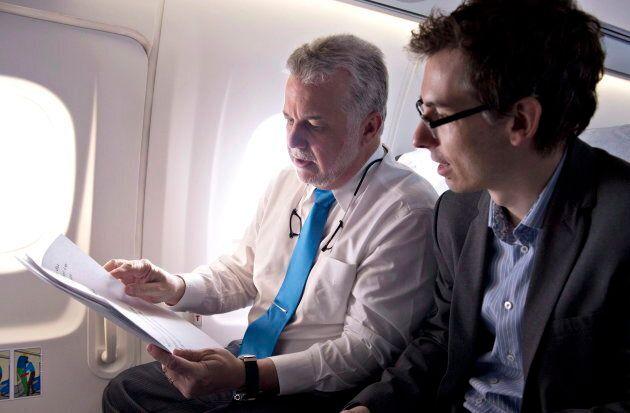 Jean-Pascal Bernier (droite), ex-chef de cabinet du premier ministre Couillard, a été nommé à la Société d'habitation du Québec par la CAQ.