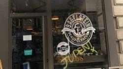 Un restaurant français porte plainte après un tag