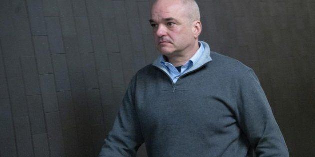 L'ancien vice-président de SNC-Lavalin Stéphane Roy quittant une salle de cour à Montréal,
