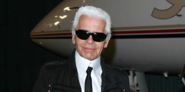 karl lagerfeld at the 2007 2008
