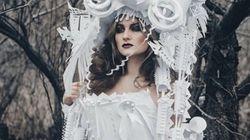 Les robes de mariée d'Asya Kozina faites de papier sont