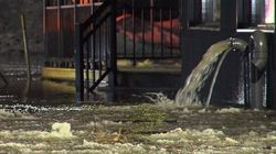 Inondations et fermetures d'écoles à