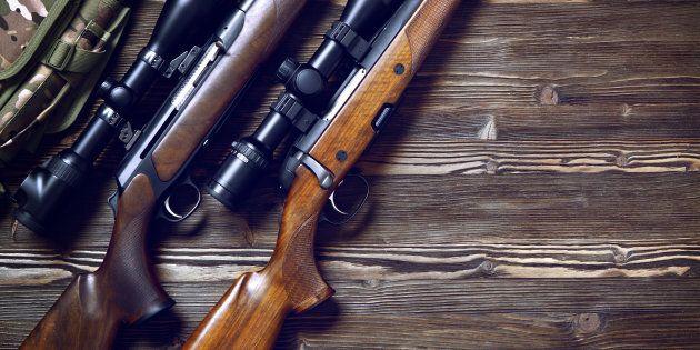 Des chasseurs opposés au registre des armes à feu manifestent à