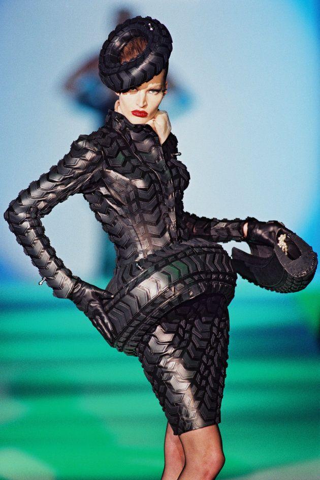 Patrice Stable. Outfit: Thierry Mugler, Les Insectes collection, haute couture printemps-été