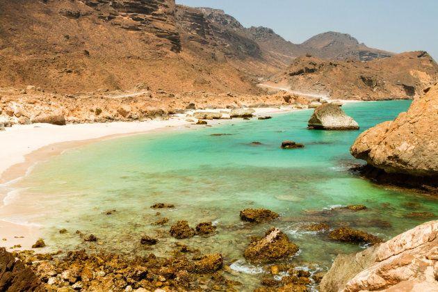 Plage à proximité de Salalah, Dhofar, Oman.