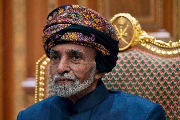 Le sultan d'Oman, Qaboos bin Said al-Saiden janvier
