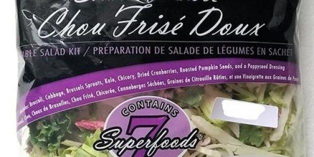 Rappel de salades préparées Chou frisé doux Eat