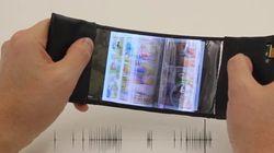 Un téléphone flexible qui permet de «feuilleter» comme un