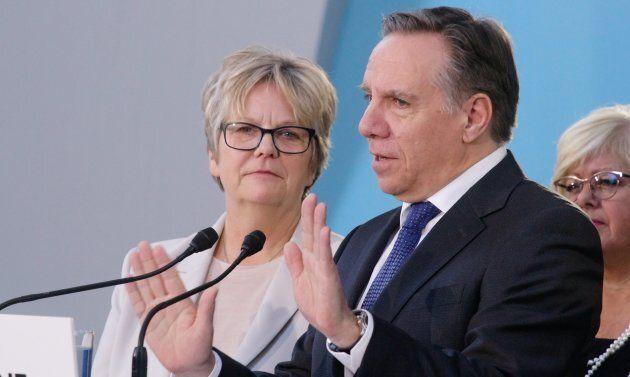 Chantal Rouleau, ministre responsable de la métropole, et le premier ministre François