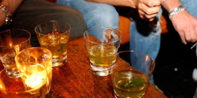 Drinks on a table @ Cargo, London, UK September