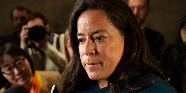 Jody Wilson-Raybould s'est entretenue avec les médias après avoir comparu devant le comité de la Justice...