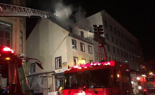 Incendie important dans un immeuble du
