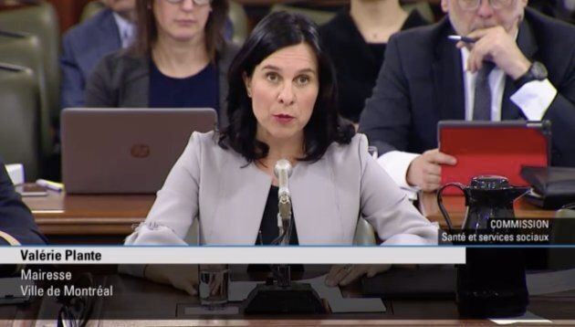 Le passage de la mairesse de Montréal, Valérie Plante, devant la commission parlementaire chargée d'étudier...