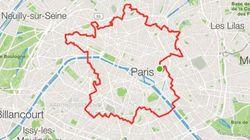 Ce coureur a marché 34 km pour dessiner la France à