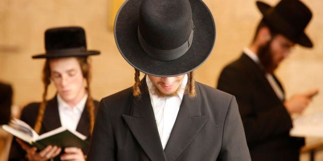 Photo d'archives de Juifs orthodoxes.