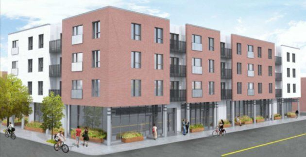 Image du projet qui nous a été fournie par l'arrondissement, pour présenter le nouvel immeuble projeté...