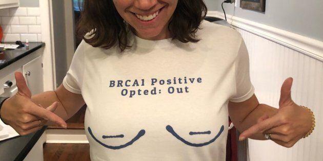 Maureen Boesen, un mois avant de recevoir les résultats de son nouveau test génétique, fière d'être porteuse de la mutation BRCA et «prévivante».