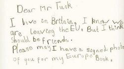 Avant le Brexit, Donald Tusk a reçu un adorable