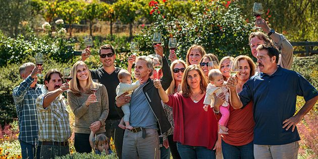 The Benzigers, wine makers from Glen Ellen, enjoying a holiday