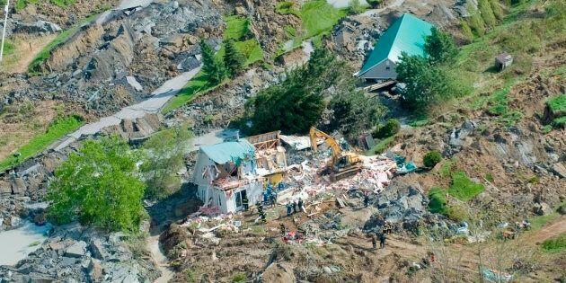 Un glissement de terrain à Saint-Jude (11 mai