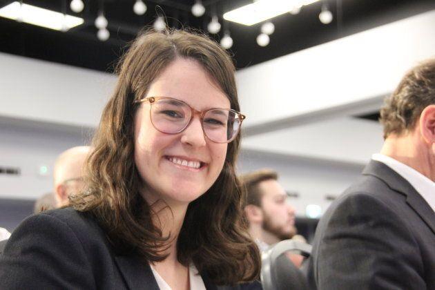 Frédérique St-Jean, présidente du Comité national des jeunes du Parti québécois, a contribué à rallier...