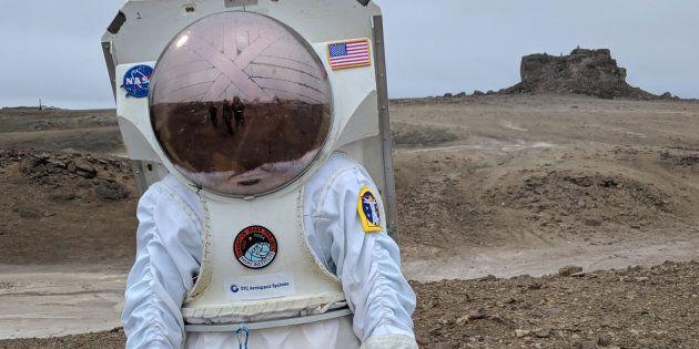 Des chercheurs du projet Haughton-Mars sur l'île